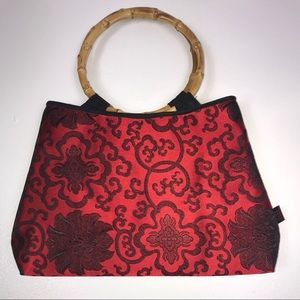 Vintage Chinese Bag W/ Bamboo Handle